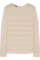 Alberta Ferretti Pleated Crepe Top White