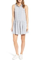 Rd Style Women's Stripe Drop Waist Shirtdress