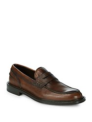 Canali Leather Driver Shoes Brown