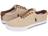Polo Ralph Lauren Vaughn Canvas Leather Khaki Men's Lace Up Casual Shoes