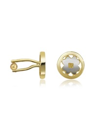 A Z Collection Four Leaf Clover Gold Plated Cuff Links