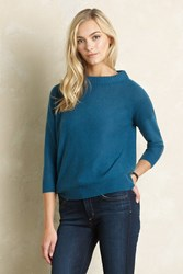 Anthropologie Edie Cashmere Pullover Green
