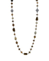 Sheryl Lowe Hand Wrapped Wire Necklace With Opal Quartz And Diamonds