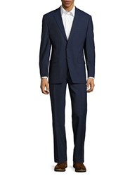 Lauren Ralph Lauren Textured Wool Suit Set Navy