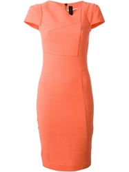 Roland Mouret 'Ranby' Pencil Dress Yellow And Orange