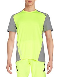 Calvin Klein Core Colorblock Tee Neon Yellow