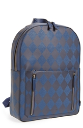 Ben Minkoff 'Bondi' Leather Backpack Navy Plaid