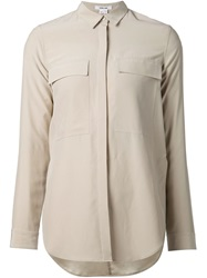 Helmut Lang Classic Collar Shirt Nude And Neutrals