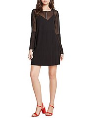 Bcbgeneration Pleated Bell Sleeve Dress Black