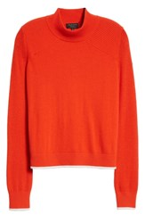 Rag And Bone Yorke Cashmere Hoodie Red