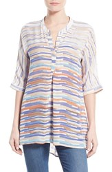 Women's Nic Zoe 'Painted Ombre' Split Neck Tunic