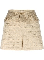 Red Valentino Jacquard Shorts Metallic
