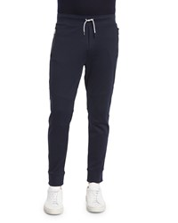 Ralph Lauren Jersey Track Pants With Contrast Side Stripe Navy Women's