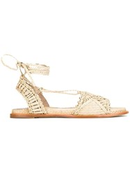 Paloma Barcelo Studded Sandals Nude Neutrals