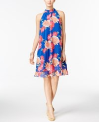 Inc International Concepts Floral Print Trapeze Dress Only At Macy's Blue Floral