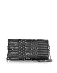 Zadig And Voltaire Black Quilted Leather Rock Mat Scales