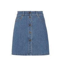 Miu Miu Denim Miniskirt Blue