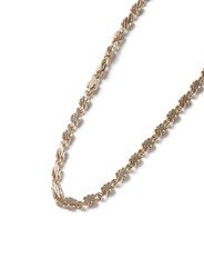 Topman Gold Textured Chain Necklace