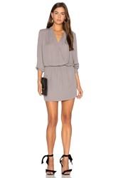 Krisa Surplice Mini Dress Grey