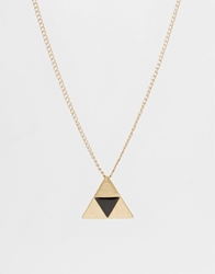 Asos Geometric Triangle Necklace Black