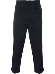 Helmut Lang Turn Up Front Trousers Black