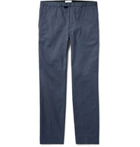 Enlist Adam Slim Fit Tapered Cotton Trousers Navy