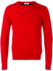 Sun 68 Crew Neck Jumper Men Cotton S Red