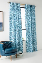 Anthropologie Monica Curtain Turquoise