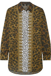 Versus Leopard Print Stretch Cotton Top