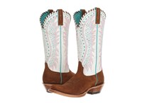 Ariat Derby Rough Mustang Crackled Rainbow Cowboy Boots White