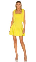 Elliatt Lucky Dress In Yellow. Citrine