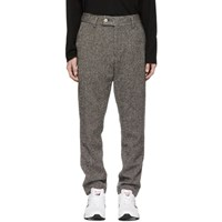 Aime Leon Dore Grey Wool Tweed Donegal Trousers