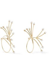 Ellery Rarig Gold Plated Pearl Earrings One Size