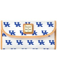 Dooney And Bourke Kentucky Wildcats Large Continental Clutch White
