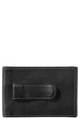 Johnston And Murphy Men's Leather Money Clip Wallet