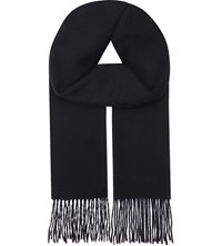 Mulberry Classic Cashmere Scarf Black