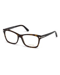 Tom Ford Square Optical Frames Brown Havana Brown Red