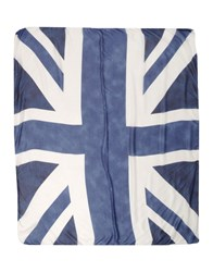 Brian Dales Square Scarves Dark Blue