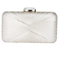 Phase Eight Millie Twist Satin Clutch Bag Ivory