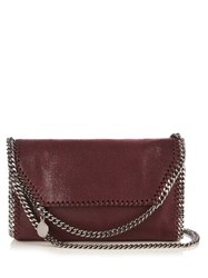 Stella Mccartney Falabella Small Faux Suede Cross Body Bag Burgundy
