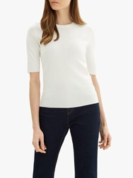 Jaeger Compact Knit T Shirt Ivory