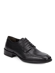 Johnston And Murphy Landrum Leather Lace Up Loafers Black