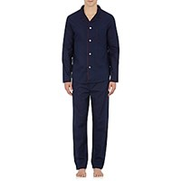 Derek Rose Men's Nelson Pajama Top And Pants Navy Red Navy Red