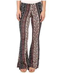 Brigitte Bailey Trea Printed Bell Bottom Pants Black Women's Casual Pants