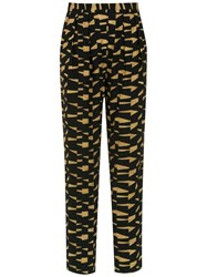 Andrea Marques Printed Trousers Black