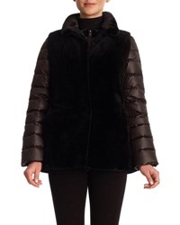 Gorski Reversible Mink Vest And Quilted Down Jacket Dark Brown