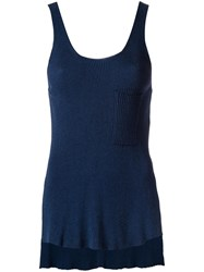 Osklen Ribbed Tank Top Blue
