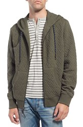 Surfside Supply Men's Diamond Quilted Zip Hoodie Olive Heather