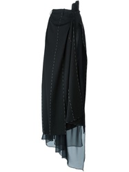 Maison Martin Margiela Maison Margiela Long Draped Skirt Black