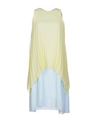 Trou Aux Biches Short Dresses Light Yellow